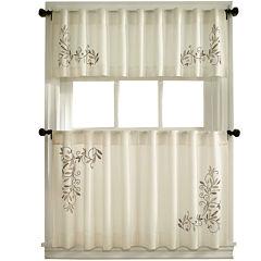 24 Inch Beige Kitchen Curtains for Window - JCPenney