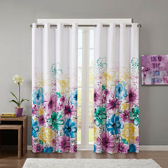 Intelligent Design Ashley Blackout Grommet-Top Curtain Panel