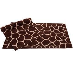 Chesapeake Merchandising Giraffe 2-pc. Bath Rug Set