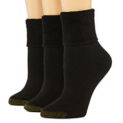 GoldToe® 3-pk. Ultra Tec Turn-Cuff Socks