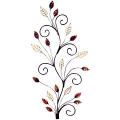 Spiral Autumn Metal Wall Decor