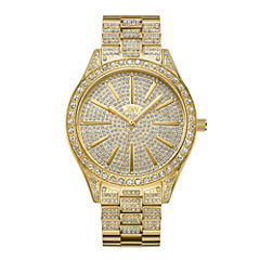 JBW Cristal 18k Gold-Plated Stainless Steel 0.12 C.T.W Diamond Accent Womens Gold Tone Bracelet Watch-J6346a