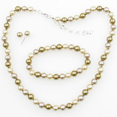 Vieste Rosa Womens 3-pc. Multi Color Simulated Pearl Jewelry Set