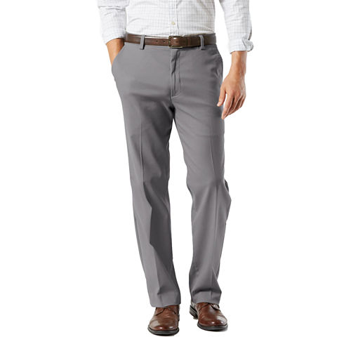 Dockers Classic Fit Flat Front Pants-Big and Tall