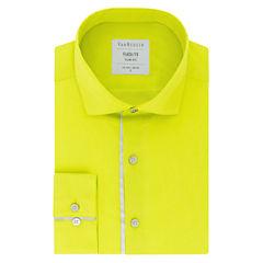 Van Heusen Flash FX Long Sleeve Woven Dress Shirt - Slim