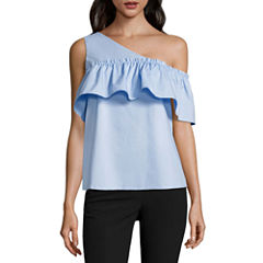 Worthington Sleeveless Woven Blouse