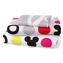 Disney Collection Mickey Mouse Chevron Sheet Set