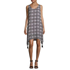 Worthington Sleeveless Geometric Shift Dress