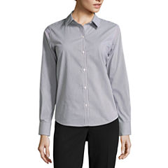 Liz Claiborne® Long-Sleeve Button-Front Shirt - Tall