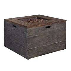 Outdoor by Ashley®Mull Island Square Fire Pit Table