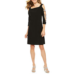 Msk 3/4 Sleeve Sheath Dress