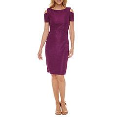 J Taylor Cold Shoulder Sheath Dress