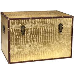 Oriental Furniture Faux Leather Crocodile StorageTrunk