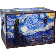 Oriental Furniture Van Gogh's Starry Night StorageTrunk