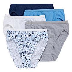 Hanes® Ultimate Cotton Comfort Hi-Cut Panties - 5pk