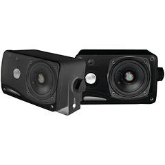 Pyle PLMR24B Hydra Series 3.5IN 200-Watt 3-Way Weatherproof Mini-Box Speaker System (Black)