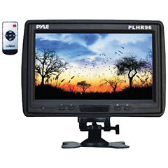 Pyle PLHR96 9IN Cut-in Headrest Monitor with IR Transmitter; Stand & Shroud