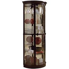 Barrett Half Round Curio Cabinet