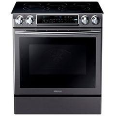 Samsung 5.8 Cu. Ft. Slide-In Electric Range With Self-Cleaning Dual Convection Oven