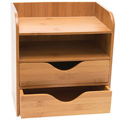 Lipper International Bamboo 4-Tier Desk Organizer