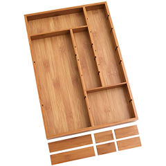 Lipper International Bamboo Adjustable Drawer Organizer