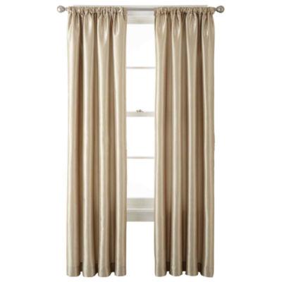 Liz Claiborne® Gallery Taffeta Rod Pocket Curtain Panel