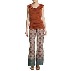 Alyx® Sleeveless Malone Knit Top or Wide-Leg Print Palazzo Pants