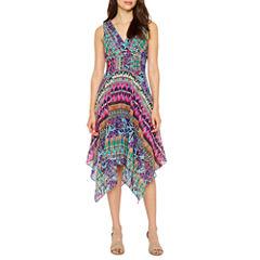 Rabbit Rabbit Rabbit Design SleevelessMid Dress