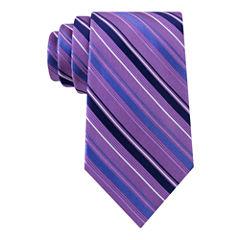 Stafford® Lakefront Track Stripe Silk Tie