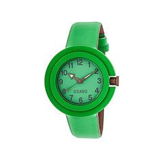 Crayo Womens Equinox Green Strap Watch Cracr2803