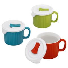 CorningWare® French White® 6-pc. Pop-In Mug Color Set