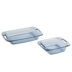 Pyrex® 2-pc. Easy Grab Atlantic Blue Bakeware Set