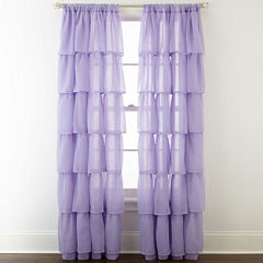 Home Expressions™ Delia Ruffle Rod-Pocket Sheer Curtain Panel