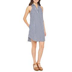 Spense Sleeveless Gingham A-Line Dress