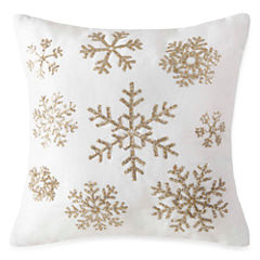 North Pole Trading Co. Snowflake Sequins Throw Pillow