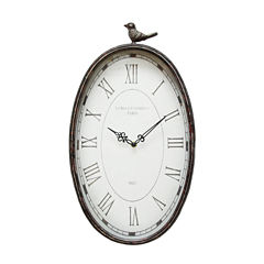 Stratton Home Décor Antique Oval Clock