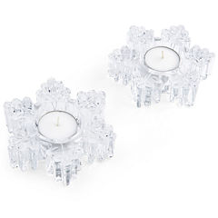 Mikasa® Celebrations Set of 2 Snowflake Votives