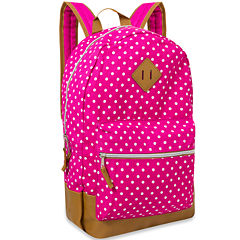 Cotton Polka Dot Backpack