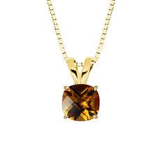 Citrine 10K Yellow Gold Pendant Necklace