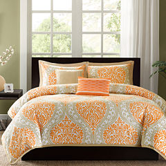 Intelligent Design Sabrina Damask Duvet Cover Set