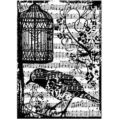 Tim Holtz® Cling Rubber Stamp, Birdsong