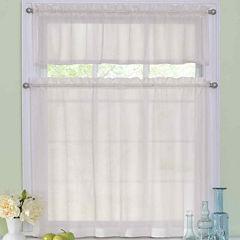 Arm & Hammer Curtain Fresh Odor-Neutralizing Rod-Pocket Window Tiers & Valance Set