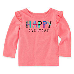 Okie Dokie Long Sleeve T-Shirt-Baby Girls