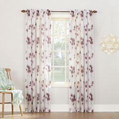 Kayla Rod-Pocket Sheer Curtain Panel