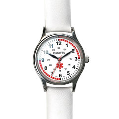 Dakota White Leather Nurse Watch