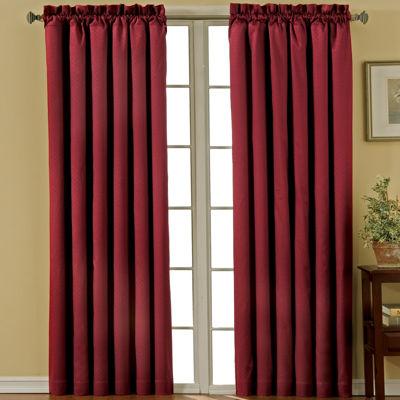 eclipse canova rodpocket blackout curtain panel - 63 Inch Curtains