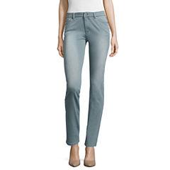 Liz Claiborne Denim Regular Fit Jeans-Misses Short