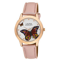 Laura Ashley Ladies Rose Gold Butterfly Dial Watch La31014Rg