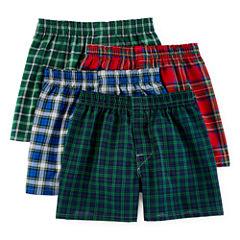 Hanes® Ultimate 4-pk. ComfortFlex® Tartan Boxers + BONUS pair - Boys