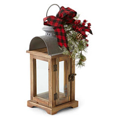 North Pole Trading Co. Winter Lodge Winter Lodge Wood Decorative Lantern